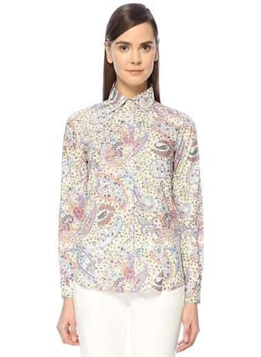 İngiliz Yaka Şal Desenli Gömlek-Etro
